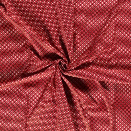 Tissu Imprimé Motif Fond Brique