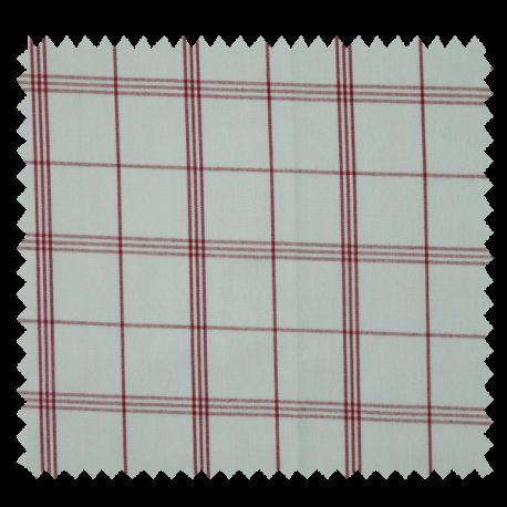 Tissu Cuistot Carreau Rouge