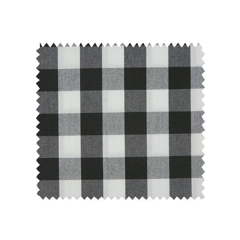 Tissu Cuistot Vichy Noir