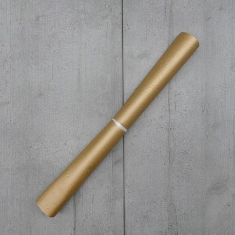 Coupon Simili Cuir Karia Coloris Or 50x140 cm