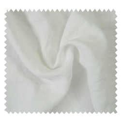 Tissu Lin Lavé Stone Washed Blanc