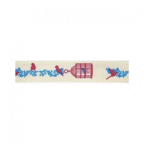 Ruban A Theme Cages oiseaux
