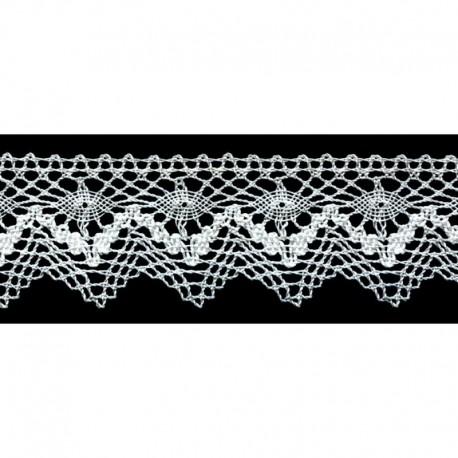 Dentelle Coton bicolore 30 mm
