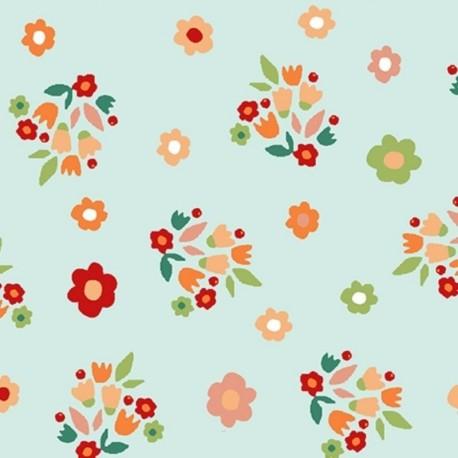 Tissu Coton Imprimé Lori Jade
