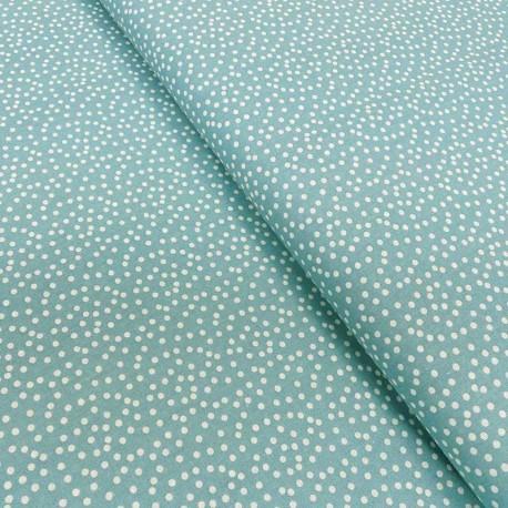 Tissu Coton Imprimé Pallino Bleu