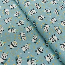 Tissu Coton Imprimé Sichuan Bleu