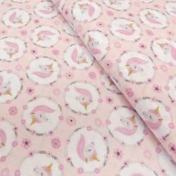 Tissu Coton Imprimé Jolly Poudre