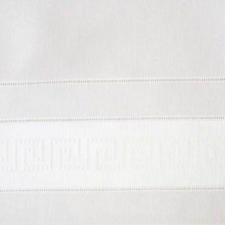 Tissu Voile Grecque Blanc Plombé