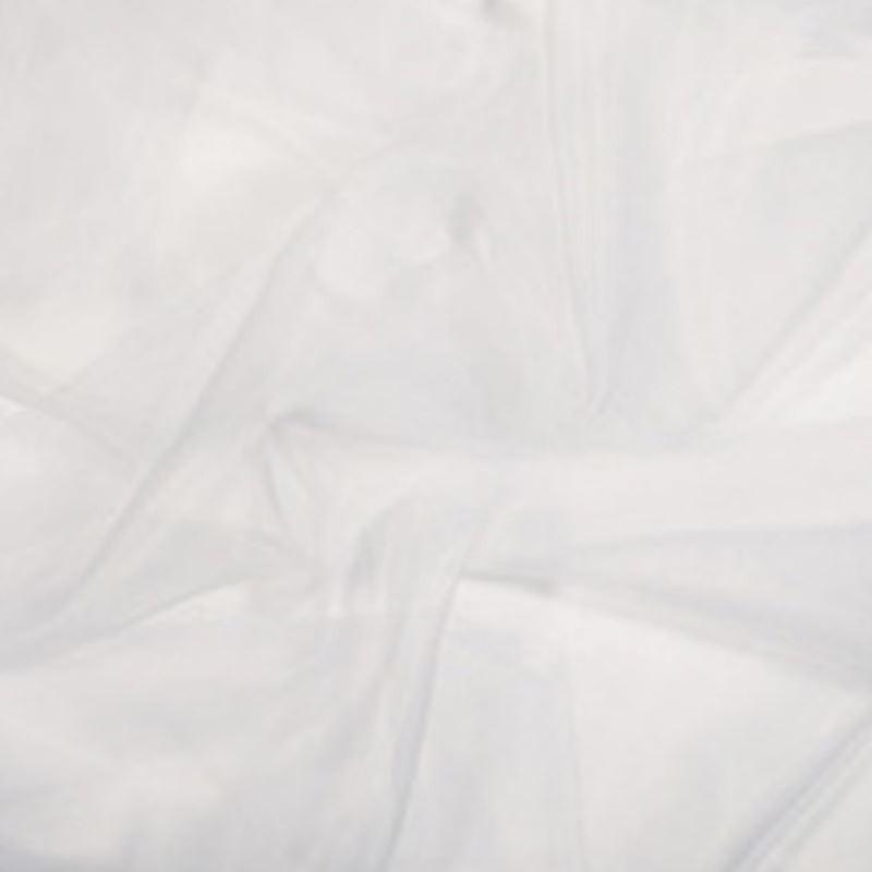 Tissu Voilage Organza Blanc Plombé