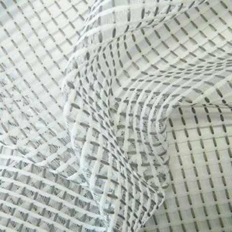 Tissu Filet Gris Blanc Plombé