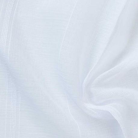 Tissu Etamine Double Rayures Filete Blanc