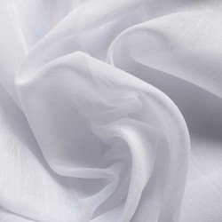 Tissu Voilage Tergal Lin Non Feu Blanc