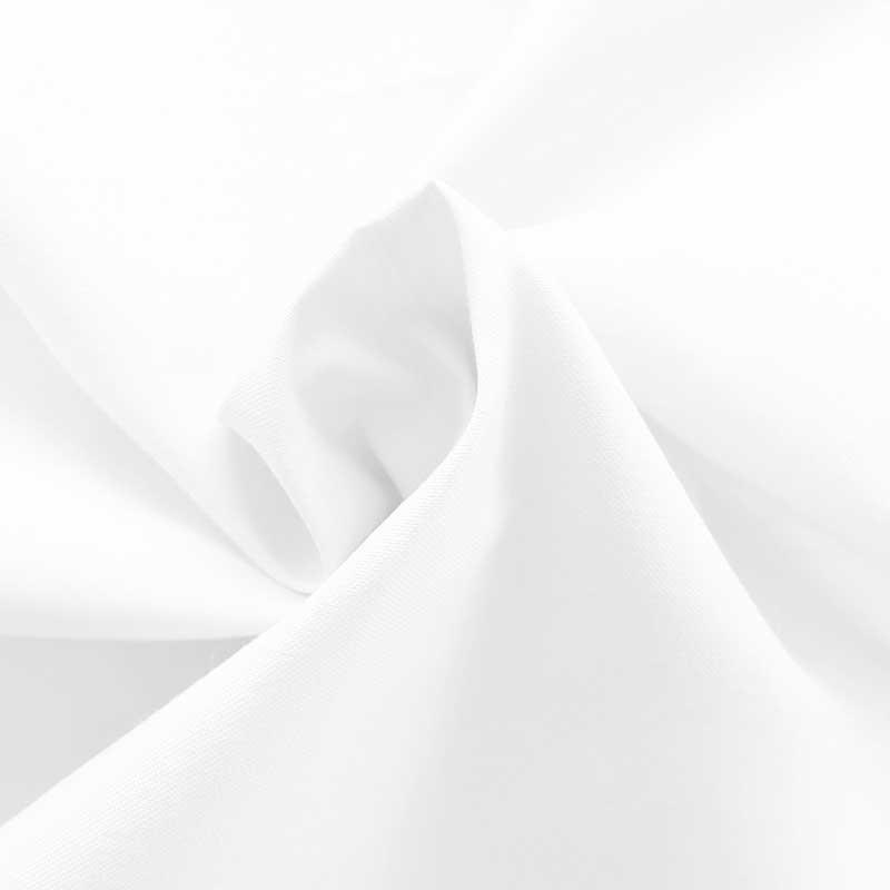 Tissu Chintz Uni Blanc Teflon