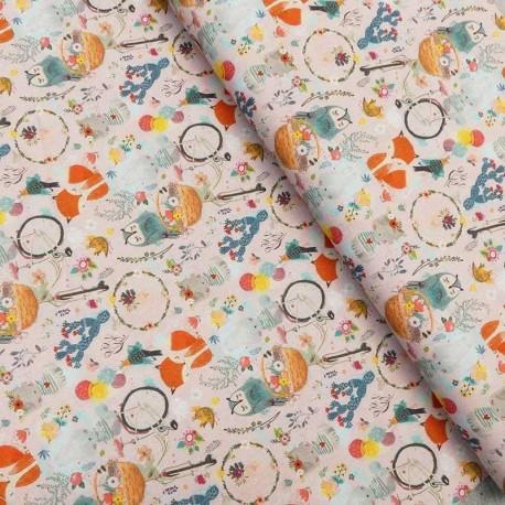 Tissu Imprimé Popeline Digitale Sweet Animals