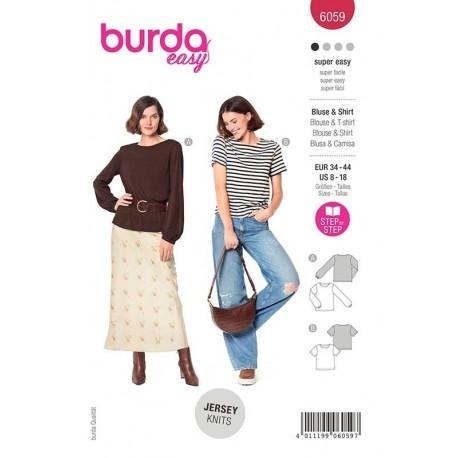 Patron Burda 6059 T Shirt/blouse 34/44