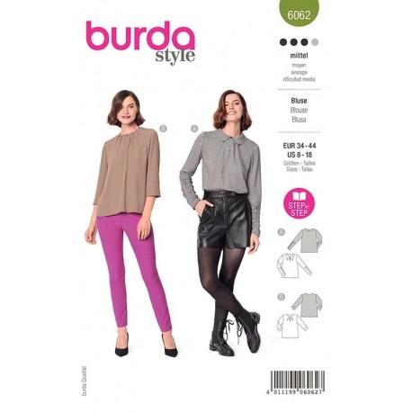 Patron Burda 6062 Blouse Façon T Shirt 34/44