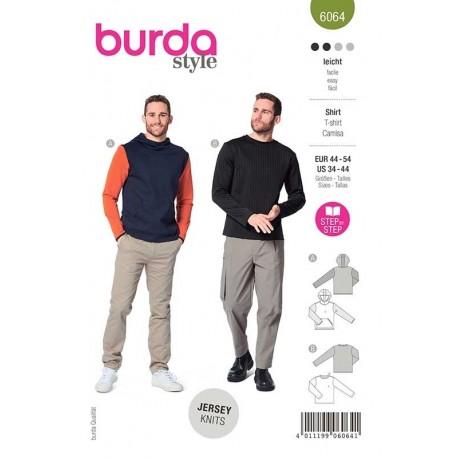 Patron Burda 6064 Sweat Shirt Classique 44/54