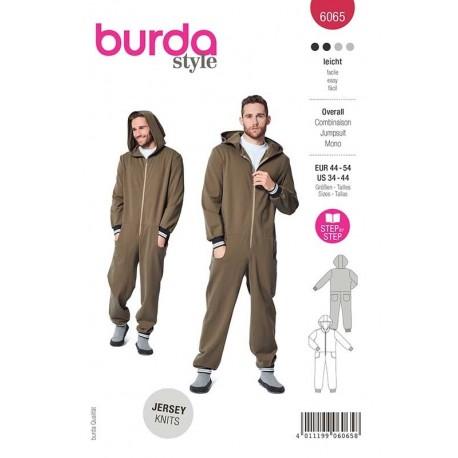 Patron Burda 6065 Combinaison Homme 44/54