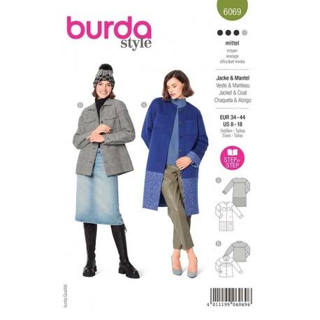 Patron Burda 6069 Manteau/veste 34/44