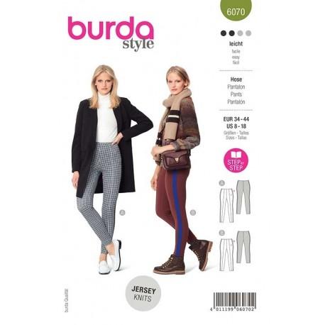 Patron Burda 6070 Pantalon 34/44