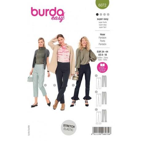 Patron Burda 6072 Pantalon Etroit 34/44