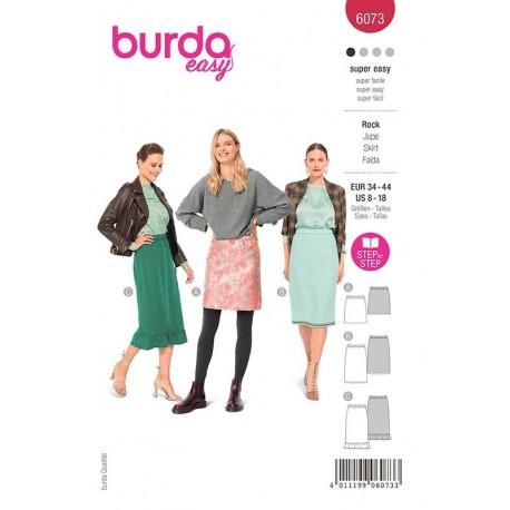 Patron Burda 6073 Jupe Ceinture Elastique 34/44