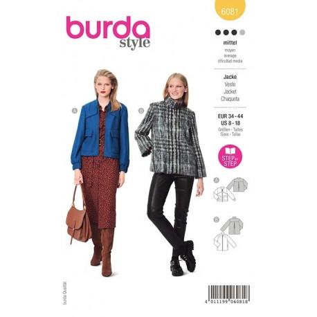 Patron Burda 6081 Veste Sportive 34/44