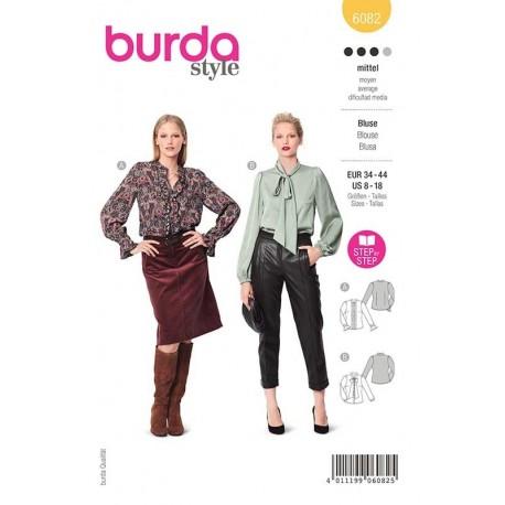 Patron Burda 6082 Blouse Feminine 34/44