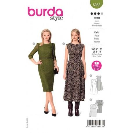 Patron Burda 6083 Robe Festive 34/44