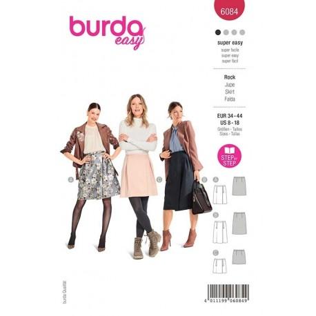 Patron Burda 6084 Jupe Portefeuille 34/44