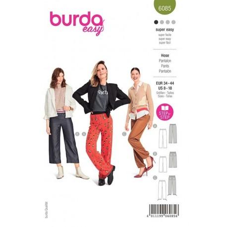 Patron Burda 6085 Pantalon Elastique 34/44