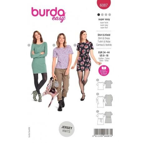 Patron Burda 6087 T Shirt/robe 34/44