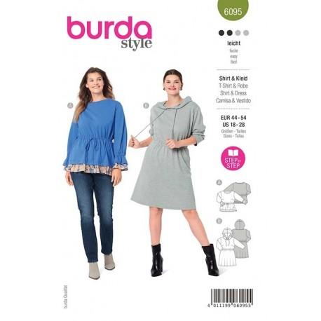 Patron Burda 6095 T Shirt/robe 44/54