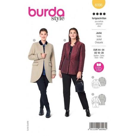 Patron Burda 6096 Veste Avec Basque 44/54
