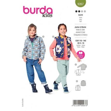 Patron Burda 9267 Kids Veste/gilet 110/140