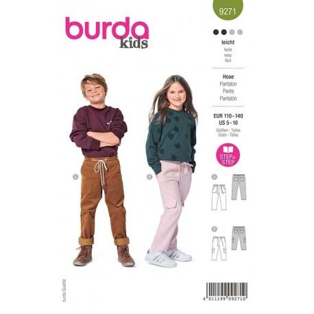 Patron Burda 9271 Kids Pantalon 110/140