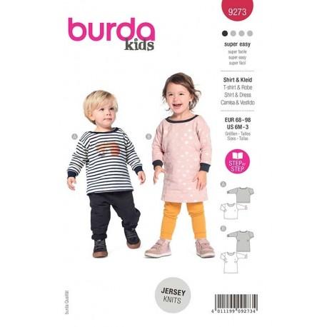 Patron Burda 9273 T Shirt/robe 68/98