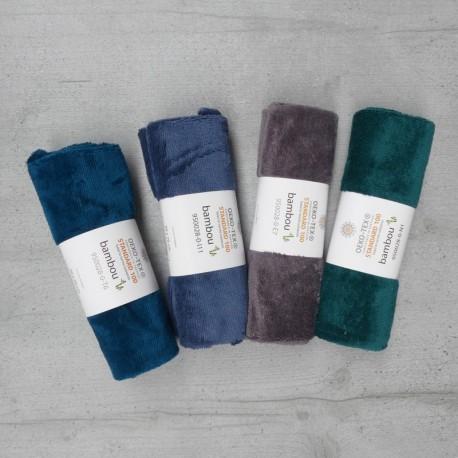 Coupon Eponge Bambou 50x70 cm - coloris au choix Vert, paon, gris Foncé, bleu