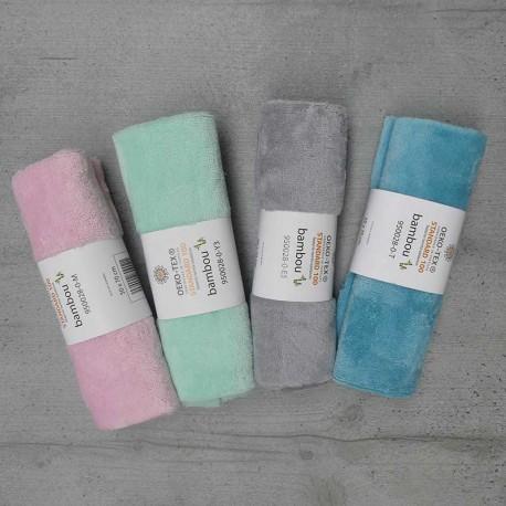 Coupon Eponge Bambou 50x70 cm - coloris au choix rose,céladon,perle,turquoise
