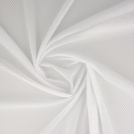 Tissu Filet Mesh Blanc