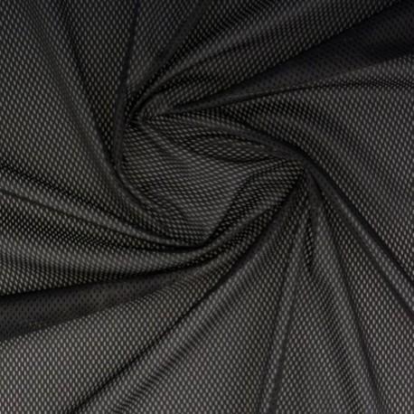 Tissu Filet Mesh Noir