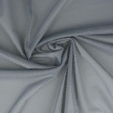 Tissu Filet Mesh Gris Moyen