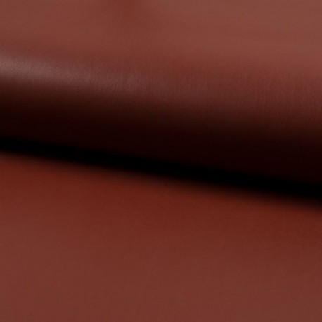 Tissu Simili Cuir Terracotta