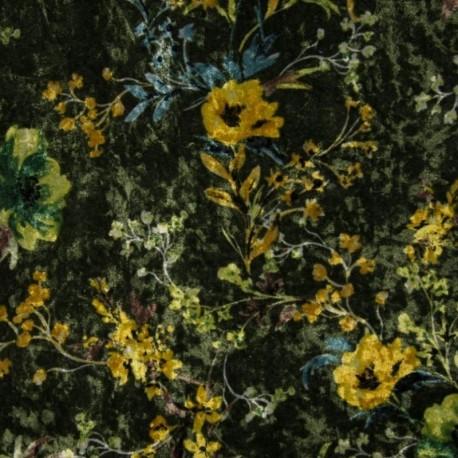 Tissu Velours Imprimé Fleur
