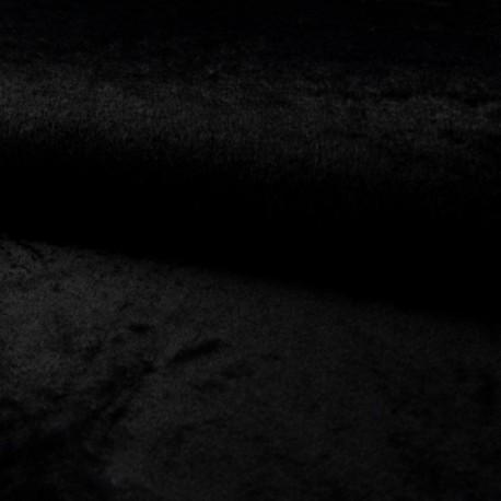 Tissu Fausse Fourrure Calista Noir