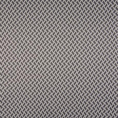 Tissu Jersey Jacquard Cheryl Noir gris