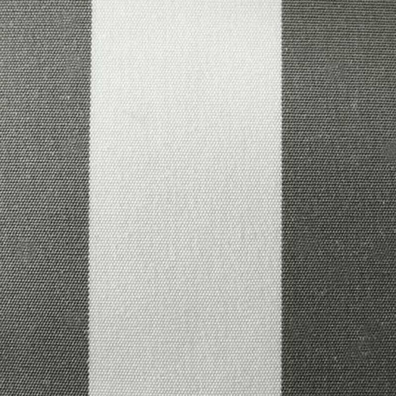 Toile Plein Air Rayure Blanc et Taupe