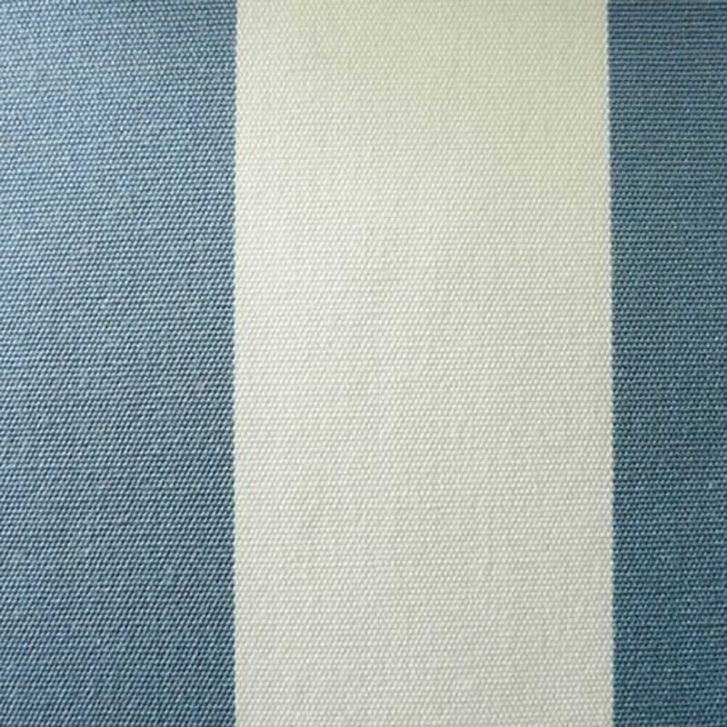 Toile Plein Air Rayure Blanc et Bleu Azur