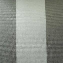 Toile Plein Air Rayure Blanc et Gris