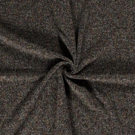 Tissu Boucle Brossé Noir